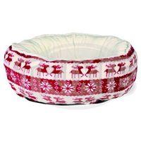 Ozdoby świąteczne, BOŻE NARODZENIE pluszowe, SANTA round 50cm - czerwony / biały