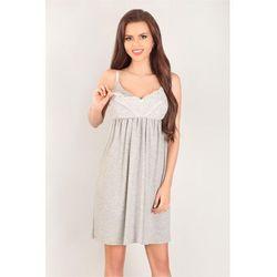 Koszulka nocna Koszula Ciążowa Model 3043 Grey - Lupo Line