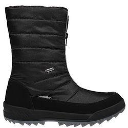 Śniegowce MANITU 991177-1 Czarne Polar-Tex damskie