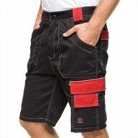 Kombinezony i spodnie robocze, Krótkie spodenki HELIOS AVACORE w kolorze czarno-czerwonym