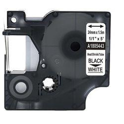 Rurka termokurczliwa DYMO Rhino 1805443 termokurczliwa 24mm x 1.5m ø 6.0mm-11.0mm biała czarny nadruk - zamiennik | OSZCZĘDZAJ D
