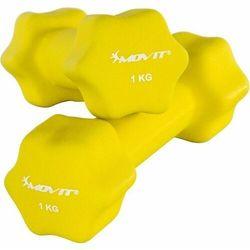 MOVIT® ZESTAW 2x HANTLE NEOPRENOWE 1 KG CIĘŻARKI - 2x 1kg żółty