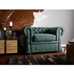 Fotel tapicerowany zielony CHESTERFIELD
