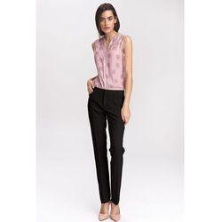 Czarne klasyczne spodnie damskie - SD39