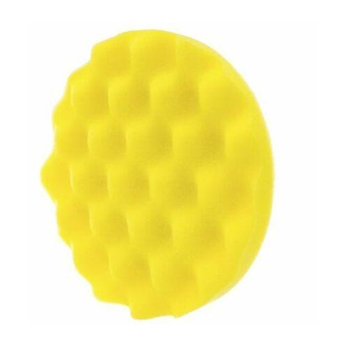 Gąbki samochodowe, RRC Wave 135mm żółta średnia gąbka polerska