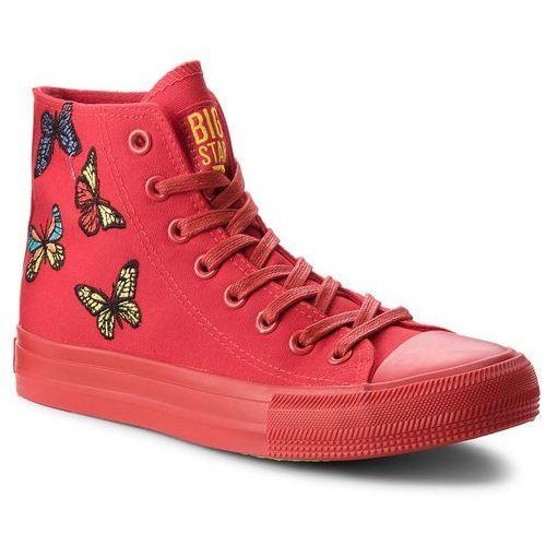 Damskie obuwie sportowe, Trampki BIG STAR - AA274900 Red