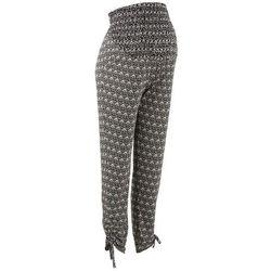Elastyczne spodnie ciążowe bonprix czarno-kremowy z nadrukiem