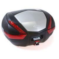 Kufry i bagażniki motocyklowe, Kufer Givi V47N (czarny, 47 litrów, czerwone odblaski, pokrywa aluminiowa)