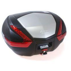 Kufer Givi V47N (czarny, 47 litrów, czerwone odblaski, pokrywa aluminiowa)