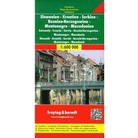 Mapy i atlasy turystyczne, Słowenia Chorwacja Serbia Bośnia i Hercegowina Czarnogóra Kosowo Macedonia. Mapa 1:600 000 (opr. twarda)