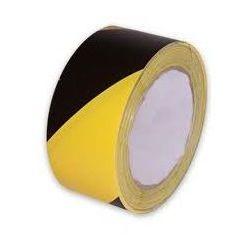 Taśma żółto czarna - szerokość 80 mm, długość 500 m