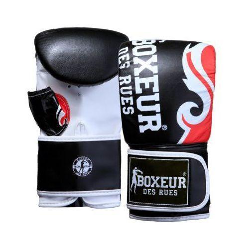 Rękawice do walki, Rękawice bokserskie BOXEUR BXT-5139 (rozmiar S) Czarno-czerwony