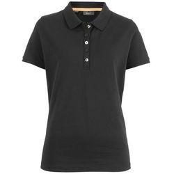 Shirt polo z bawełny pique bonprix czarny