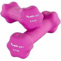 Hantle, MOVIT® ZESTAW 2x HANTLE NEOPRENOWE 0,5 KG CIĘŻARKI - 2x 0,5kg różowy
