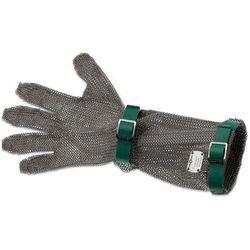 Rękawica metalowa z zielonymi paskami, długa, rozmiar XS | GIESSER, 9590 15
