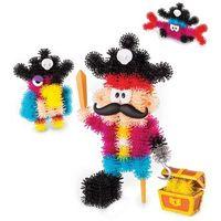 Kreatywne dla dzieci, BUNCHEMS Kolorowe rzepy świecące - Piraci - Bunchems Piraci