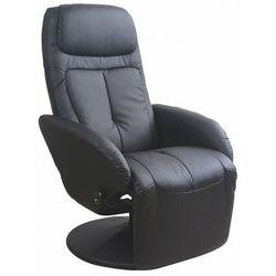 Wypoczynkowy fotel obrotowy Timos - czarny