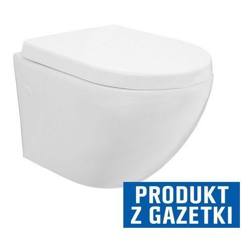 Miski i kompakty WC, CARLO MINI RIMLESS Miska WC wisząca bezrantowa + deska wolnoopadająca