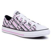 Obuwie sportowe dziecięce, Trampki CONVERSE - Ctas Ox Black/Peon 667208C Black/Peony Pink/White