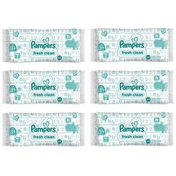 Zestaw 6 x PAMPERS Baby Fresh Clean 64szt Chusteczki nawilżane dla dzieci i niemowląt