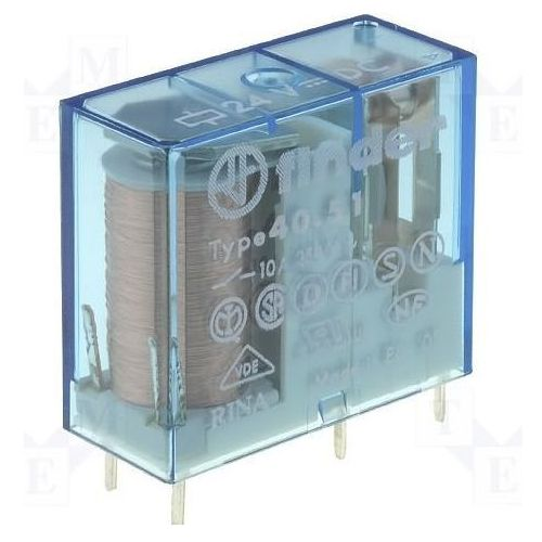 Przekaźniki, Przekaźnik 1NO 10A 125V DC styki AgNi+Au 40.51.9.125.5300