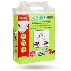 MUUMI Baby Pieluchy 3 Midi 50szt pieluszki hipoalergiczne i ekologiczne (5-8kg)