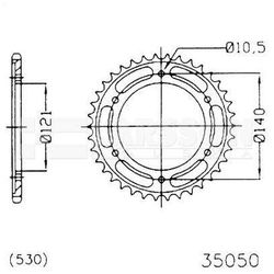 Zębatka tylna stalowa JT 50-35050-40, 40Z, rozmiar 530 2301905 Cagiva Raptor 1000