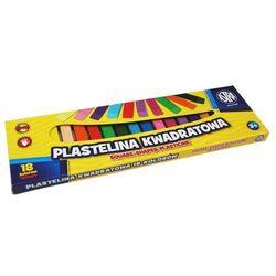 Plastelina kwadratowa ASTRA szkolna 18 kolorów