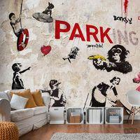 Fototapety, Fototapeta Kolaż graffiti (Banksy) i-A-0107-a-b