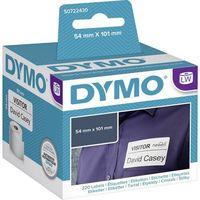 Etykiety fiskalne, Etykiety do drukarek etykiet DYMO S0722430, 54 mm x 101 mm, dostawcze, białe