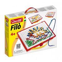 Kreatywne dla dzieci, Filo - wyszywanie sznureczkami, 18 szablonów - Quercetti