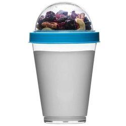 Sagaform - to go - kubek na jogurt i dodatki, 0,3 l, niebieski