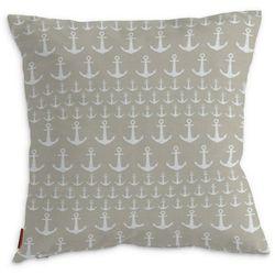 Dekoria Poszewka Kinga na poduszkę, kotwice beżowo-białe, 43 × 43 cm, Wyprzedaż do -50%
