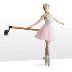 KLARFIT Barre Mur, drążek baletowy, 110 cm drążek, Ø 38 mm, montaż naścienny, czarny