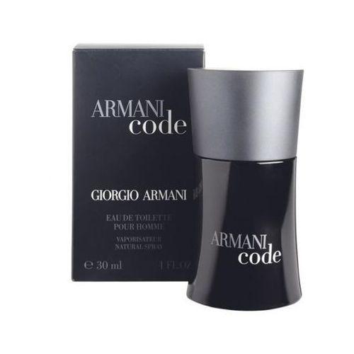 Wody toaletowe męskie, Giorgio Armani Black Code Men 30ml EdT