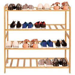Szafka na buty bambusowa 4 półki, stojak na obuwie naturalny