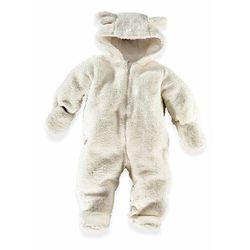 Kombinezon niemowlęcy z polaru baranka bonprix kremowy