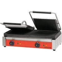 Grille gastronomiczne, Kontakt grill podwójny ryflowany, 610x390x195 mm | CATERINA, 742021