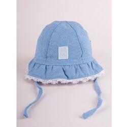 Czapka letnia kapelusz dżinsowy z białym wykończeniem cute bunny 42-44