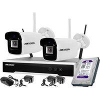 Zestawy monitoringowe, 2 kamerowy zestaw monitoringu wifi Hikvision 4MPx 1TB