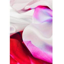 Apaszka jedwabna w odcieniach różowego - Jedwab Polski