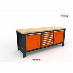 """Stół narzędziowy ST 20/04 """"TRÓJKA"""" warsztatowy metalowy na klucz"""