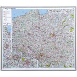 Tablica mapa 2x3 officeBoard – Mapa drogowa Polski 102,5x120cm, płyta miękka