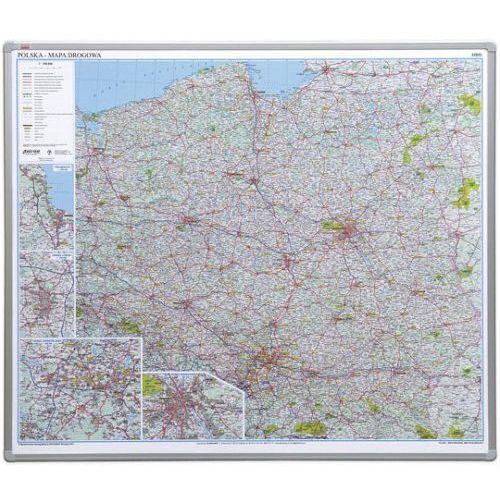 Mapy i atlasy turystyczne, Tablica mapa 2x3 officeBoard – Mapa drogowa Polski 102,5x120cm, płyta miękka