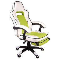 Fotel biurowy GIOSEDIO biało-zielony, model FBG027