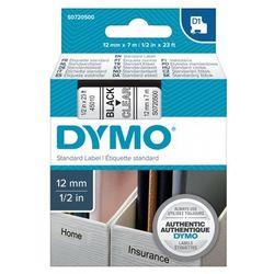 DYMO Tape cassette dymo d1 12mmx7m black/clear 45010
