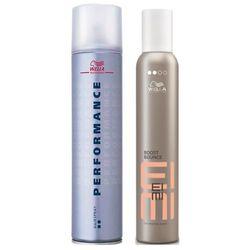 Wella Performance Ultra Hold Hair Spray (2 dot) 500ml + Wella EIMI NutriCurls Boost Bounce 300ml