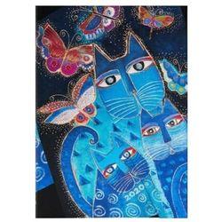 Kalendarz2020 ks. Midi Horizontal Blue Cats & Butterflies 12m - Paperblanks