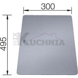 Deska BLANCO ze szkła hartowanego satynowanego srebrna 495x300x5mm (226191)