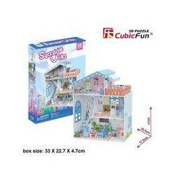 Puzzle 3D Seaside Villa Domek dla lalek. Darmowy odbiór w niemal 100 księgarniach!